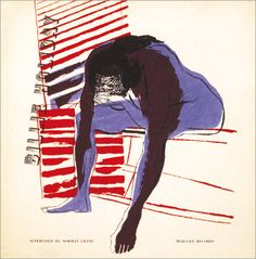 Such a powerful album cover - Billie Holiday, 1953 - art and design by David Stone Martin