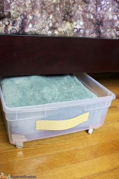 Sterilite Under Bed Storage Sterilite 74 Qt Ultra Clear Under Bed Box With Gray Lid & Latches