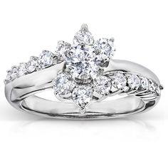 1 CT DIAMOND ENGAGEMENT Bridal RING 14K WHITE GOLD TONED Women/'s Ring Size 4.5