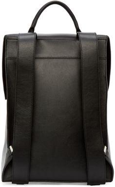 Balenciaga - Black Leather Phileas Backpack
