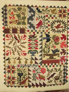 Applique Patterns, Applique Quilts, Applique Designs, Quilting Designs, Quilt Patterns, Quilting Ideas, Blackbird Designs, Bird Quilt, Country Quilts
