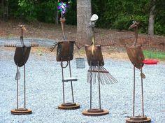 Recycled <b>Metal</b> <b>Yard</b> <b>Art</b> | <b>YARD</b> Birds | <b>Scrap</b> <b>metal</b> <b>art</b> | <b>yard</b> <b>art</b> ...