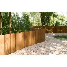 Bordure d rouler plate bois marron h 20 x l 120cm for Bordure de jardin en palette