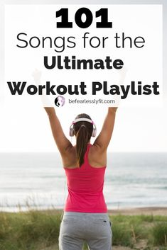 Here are the best workout songs that include some throwback as well as current hits. No workouts is complete without a good playlist and here are 101 songs to give you the motivation to keep going Best Workout Songs, One Song Workouts, Fun Workouts, Best Workout Playlist, Motivational Workout Songs, Morning Workouts, Motivational Quotes, Inspirational Quotes, Fitness Motivation