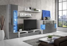 Grey Gloss Living Room Furniture