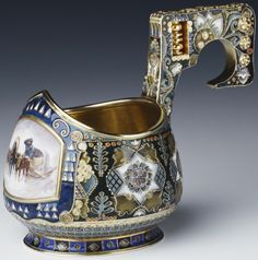 1911 Russian Kovsh at the Royal Collection, UK - Russian style was made in Fabergé's Moscow branch by Feodor Rückert.