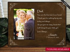 Father of the Bride Gift, Personalize You Are the First Man I Ever Loved Picture Frame -- Want additional info? Click on the image. (This is an affiliate link and I receive a commission for the sales)