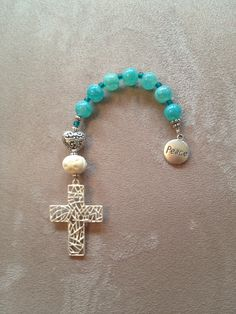 Handmade Anglican-Protestant pocket prayer beads. Rosary Bracelet, Rosary Beads, Prayer Beads, Christian Jewelry, Christian Gifts, Beaded Jewelry, Handmade Jewelry, Beaded Bracelets, Baubles And Beads