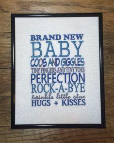 Brand New Baby Boy Girl Shower Gift Framed Art Wall Hanging Plaque Sign ~ Nursery Decor