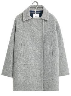 Manteau en drap de laine Gris by MANGO