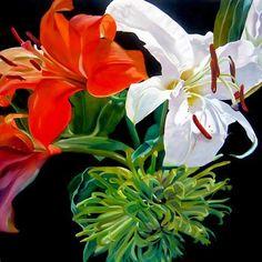 Inspiration - oil on Canvas by Lee Dewsnap International Artist, Flower Art, Art Flowers, Cotton Canvas, Photo Art, Oil On Canvas, Illustration Art, My Arts, Floral