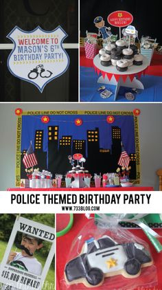 Police Themed Birthd