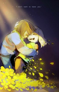 Frisk and Asriel Underatle
