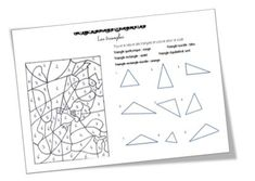 coloriage magique sur les triangles Le Triangle, Triangles, Tessa, Bullet Journal, Education, School, Schools, Teaching, Onderwijs