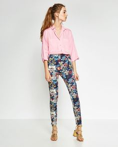Image 1 of HIGH-WAIST TROUSERS from Zara