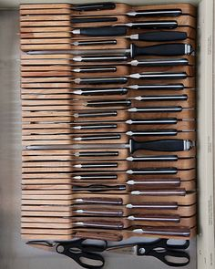in-drawer wooden knife trays