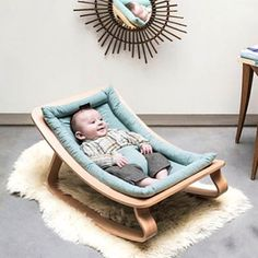 Charlie Crane Levo Aruba Blue Babywippe aus Holz in türkis (ab Geburt) - Eco-friendly baby bouncer in our baby onlineshop www. Eco-friendly baby bouncer in our baby onlineshop www. Baby Bouncer, Baby Bedroom, Baby Room Decor, Charlie Crane, Charlie Charlie, Baby Rocker, Nursery Rocker, Baby Blog, Baby Furniture