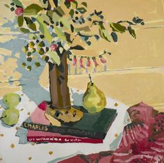 Young's latest series of paintings are a collage of time; coalesced with childhood memories, everyday interactions and accidental fascinations - a book, an heirloom, a ripe plum from the garden.
