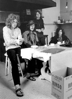 Led Zeppelin at the Chateau Marmont, 1969. Photo by Jay Thompson.