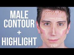 Contour + Highlight Tutorial for Men \\ Male Makeup - YouTube