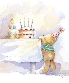 81 best art licensing art submissions guidelines images on lizzie walkley bear at party table cute birthday wishes happy birthday bear happy m4hsunfo