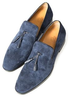 official photos 78121 3a926 J Benzal The Jim Navy Blue Size 9 299 - Grailed Blue Suede, Black Leather