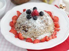 Bowl cake banane coco sans gluten ni lactose // Un jolie petit-déjeuner pour les…