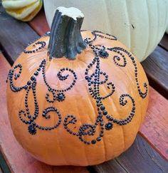 Beaded pumpkin decorating
