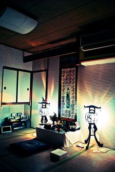 Illuminated Buddhist Altar