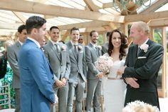 Romantic Grey and Pink Wedding at Gaynes Park   Bridal Musings