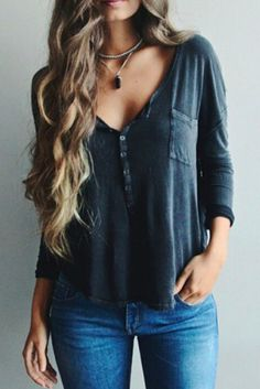 x  flowy top necklace jeans