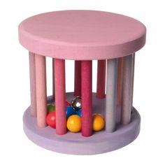 [Grimm's Spiel & Holz Design グリムス社]ベービーローラー ピンク ドイツ・グリムス社の転がすとカラカラ♪楽しい音がする赤ちゃんの木のおもちゃです。
