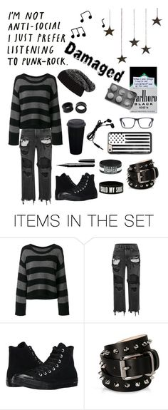 """""""^^AntiSocial Club^^"""" by partypoisonkilljoy77 ❤ liked on Polyvore featuring art"""