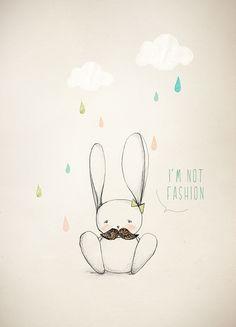 """""""Eu não sou fashion"""" - seria por causa do bigode e do lacinho?"""