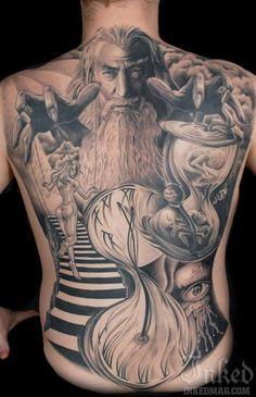 Tattoo Gandalf der Zauberer