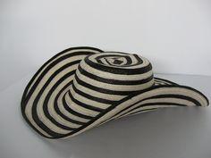 Sombrero tipo Cebra elaborado en Caña Flecha.