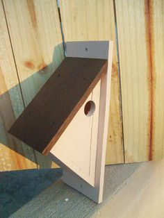 Chickadee Bird House by WoodCraftsShop on Etsy. , via Etsy.