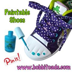 Bobbi-Toads Paintables can be painted with any nail polish - over & over again - to match your outfit or mood! Available at www.bobbitoads.com.