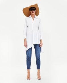 ZARA - WOMAN - ASYMMETRIC POPLIN TUNIC