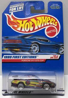 (TAS034389) - 1998 Mattel Hot Wheels - 1999 First Edition - Porsche 911 GT3 Cup