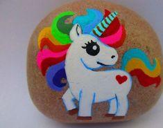 easy, cute, unicorn, paint, rock