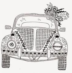 Efie goes Zentangle: ben kwok volkswagen