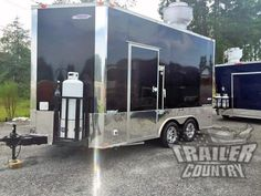 NEW 8 5 X 14 Enclosed Mobile Kitchen Tail Gate Food Vending Concession Trailer Concession Trailer For Sale, Concession Food, Trailers For Sale, Tailgate Food, Tailgating, Used Food Trucks, News 8, Food Trailer, Tail Gate