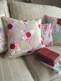 HenHouse: handmade cushion based on the jewel star design.