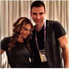 #Beyonce and designer Rubin Singer. He created her #superbowl outfit