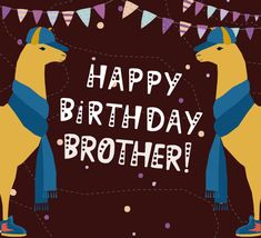 A fun card for your brother on his birthday! Free online Happy Birthday, Best Brother ecards on Birthday Happy Birthday Love Poems, Happy Birthday Brother From Sister, Happy Birthday Song Video, Birthday Wishes Songs, Brother Birthday Quotes, Birthday Wishes For Boyfriend, Happy Birthday Images, Brother Quotes From Sister, Happy Birthday Status