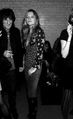 Kate Moss + Rolling Stones It's only rock and roll and all I need.