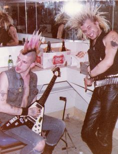 Jock and Colin from GBH backstage at the Olympic