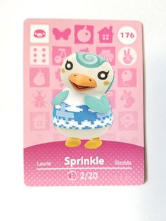 And thus sprinkle was made. 11 Ac Ideas Animal Crossing Animal Crossing Villagers Animal Crossing Amiibo Cards
