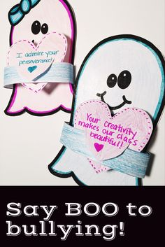 Kick off bullying prevention month with this fun classroom guidance lesson and Halloween craft! Discuss what bullying is and isn't, generate ideas for kindness, play a cooperative game, and write encouraging messages to peers! Students create ghost-gram crafts to encourage their peers and practice actively choosing kindness. This is a great activity for elementary school counseling classroom guidance or small group counseling!